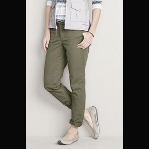 Eddie Bauer Legend Wash Olive Green Khaki Pants
